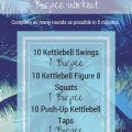 5-Minute Kettlebell + Burpee Workout