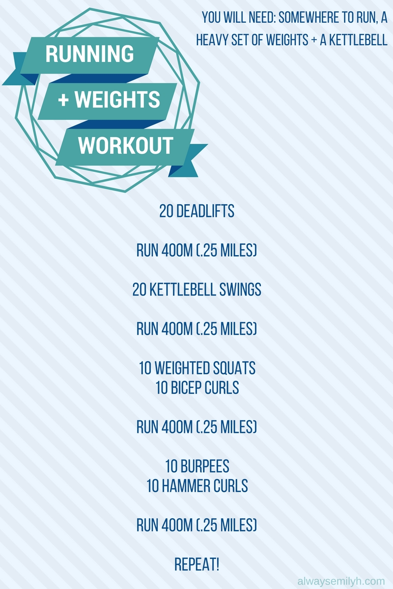 Running Weights Workout