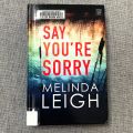 say you're sorry book